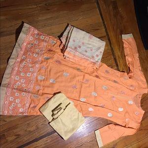 Dresses & Skirts - Light peach color Salwar Kameez